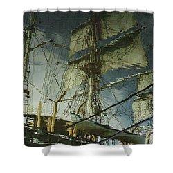Ghost Ship Shower Curtain
