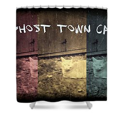 Shower Curtain featuring the photograph Ghost Town Cat by Absinthe Art By Michelle LeAnn Scott