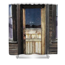 Ghost Town Handcrafted Door Shower Curtain by Daniel Hagerman