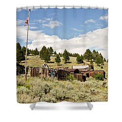 Shower Curtain featuring the photograph Ghost Town In Summer by Sue Smith