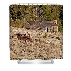 Ghost Town Remains Shower Curtain by Sue Smith