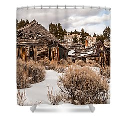 Ghost Town Shower Curtain by Sue Smith