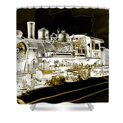 Ghost Train Shower Curtain