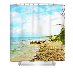 Shower Curtain featuring the photograph Ghost Tree by Amar Sheow