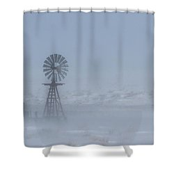 Ghost Windmill Shower Curtain