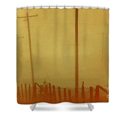Shower Curtain featuring the photograph Mississippi Ghostly Morning by Michael Hoard