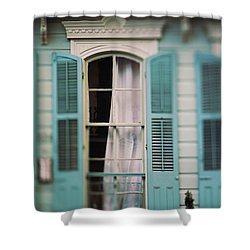 Ghostly Window Shower Curtain