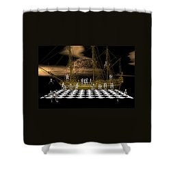 Ghostship Gala 2 Shower Curtain