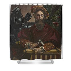 Shower Curtain featuring the painting Gian Galeazzo Sanvitale by Granger