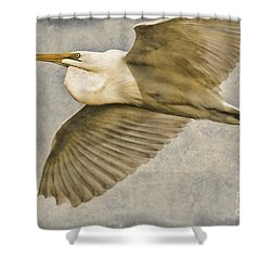 Giant Beauty In Flight Shower Curtain by Deborah Benoit