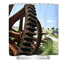 Giant Cog Shower Curtain by Richard Reeve