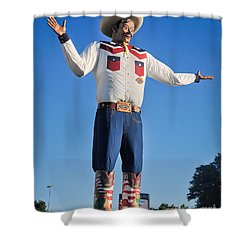 Giant Cowboy Big Tex State Fair Of Texas Shower Curtain