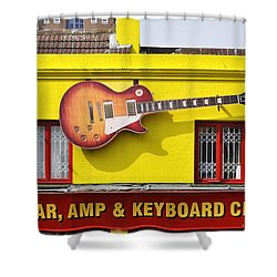 Giant Gibson Les Paul Shower Curtain