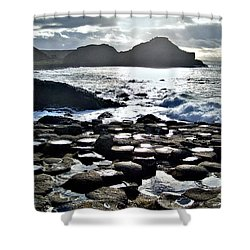 Giant's Causeway Sunset Shower Curtain