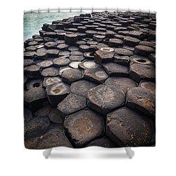 Giant's Causeway Pillars Shower Curtain by Inge Johnsson