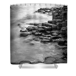 Giant's Causeway Waves  Shower Curtain by Inge Johnsson
