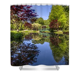 Gibbs Garden Shower Curtain by Debra and Dave Vanderlaan