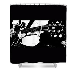 Gibson Guitar Graphic Shower Curtain