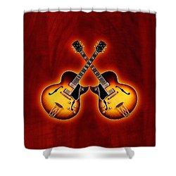 Gibson Jazz Shower Curtain by Doron Mafdoos