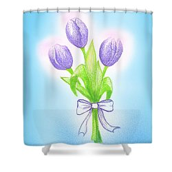 Gift Shower Curtain by Keiko Katsuta