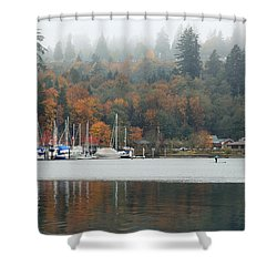 Gig Harbor In The Fog Shower Curtain