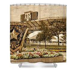 Gig'em Shower Curtain by Dave Files