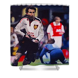 Giggs Goal V Arsenal Oil On Canvas Shower Curtain
