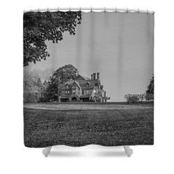 Gilded Age Mansion Shower Curtain