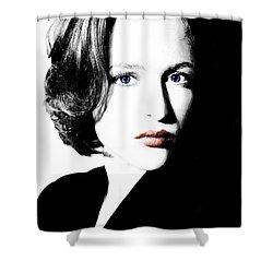 Gillian Anderson Shower Curtain