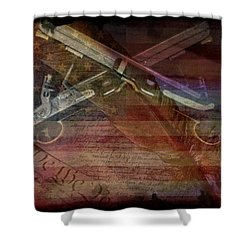 Gimme Back My Bullets Shower Curtain by Absinthe Art By Michelle LeAnn Scott