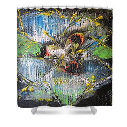 Shower Curtain featuring the painting Gimme Moore by Lucy Matta