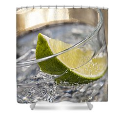 Gin Tonic Cocktail Shower Curtain by Ulrich Schade
