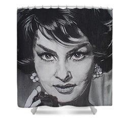 Gina Lollobrigida Shower Curtain by Sean Connolly