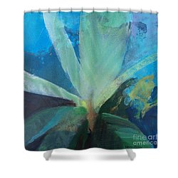 Shower Curtain featuring the painting Ginger Tea by Robin Maria Pedrero
