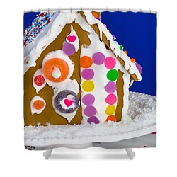 Shower Curtain featuring the photograph Gingerbread House by Vizual Studio
