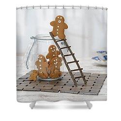 Gingerbread Ladder Shower Curtain