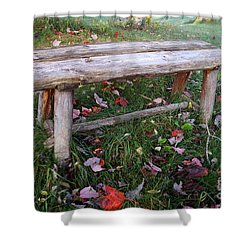 Ginny's Bench Shower Curtain by Kerri Mortenson