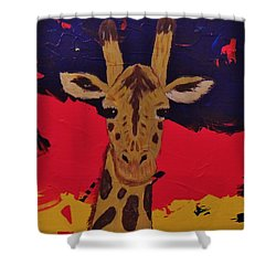 Giraffe In Prime 2 Shower Curtain