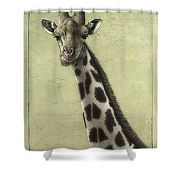 Giraffe Shower Curtain by James W Johnson