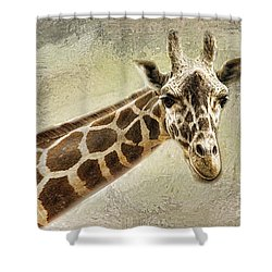 Giraffe Shower Curtain by Linda Blair