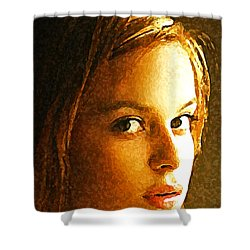 Shower Curtain featuring the painting Girl Sans by Richard Thomas