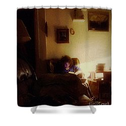 Girl With A Book Shower Curtain by RC deWinter
