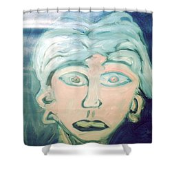 Girl With Ear Rings Shower Curtain