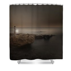 Girl With Lantern Shower Curtain by Joana Kruse