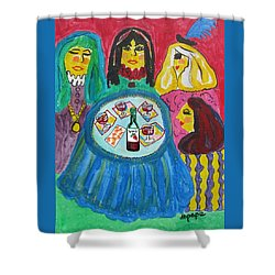 Girls Night Out Shower Curtain by Diane Pape