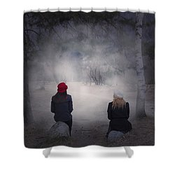 Girlfriends Shower Curtain by Joana Kruse