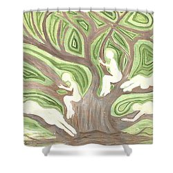 Girls In A Tree Shower Curtain