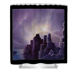 Girnigoe Castle Shower Curtain by James Christopher Hill
