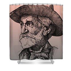 Giuseppe Verdi Shower Curtain by Derrick Higgins