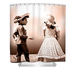 Give It Back Shower Curtain by Bob Orsillo